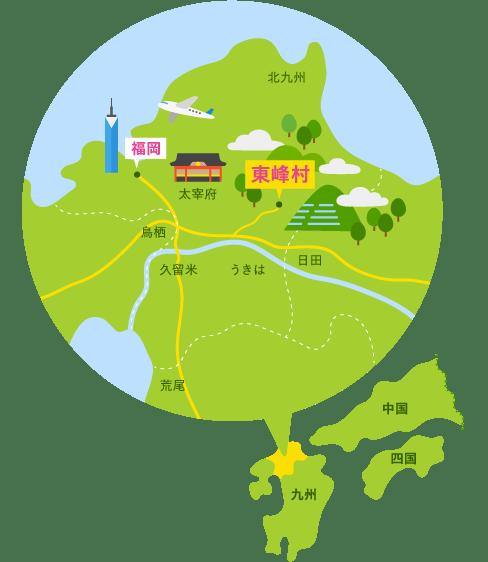 岩屋キャンプ場 アクセスマップ