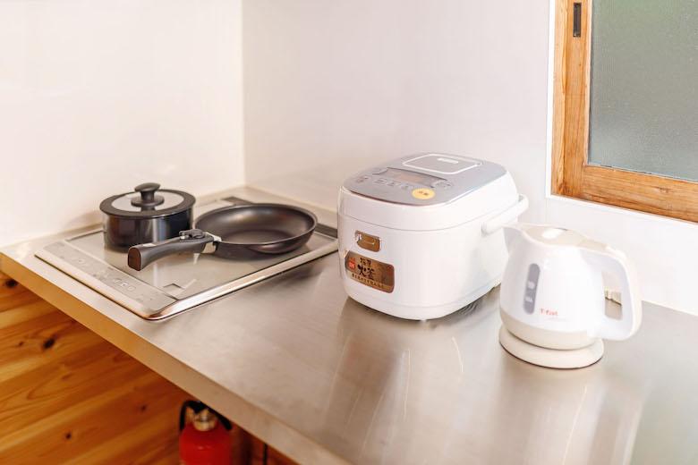 IHコンロに炊飯器、電気ポットも